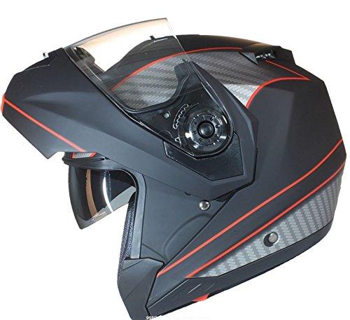 53-54cm Blanc Qtech Casque Modulable Pare Soleil Interne Moto Scooter XS