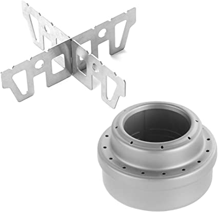 Cross Stand Portable Compact Outdoor Camping Titanium Spirit Alcohol Stove