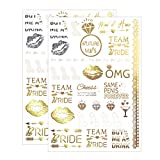 Team Bride Tattoos Maid of Honor Bachelorette Party Favor Bridesmaid Gift Bride to Be Decoration Buy Me A Drink Stickers Flash Gold Silver