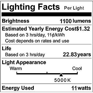 A19 LED Light Bulbs, Petronius 100 Watt Equivalent LED Bulbs,5000K Daylight White, 1100Lumens, Non Dimmable, Medium Screw Base (E26), CRI80+, 12-Pack
