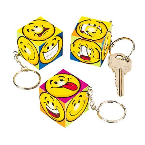 Mini Magic Cube Puzzle Key Chains (1 dz)