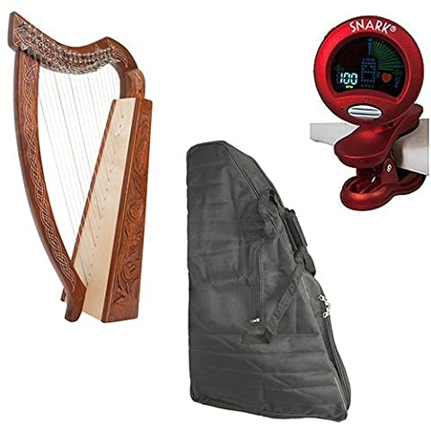Roosebeck Pixie Harp 19-String Deluxe Package w/Gig Bag, and Tuner (The Pixies Deluxe)