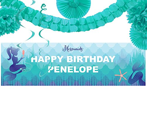 BirthdayExpress Mermaids Under The Sea Party Party Supplies - Banner Decoration Kit ()