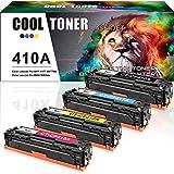 Cool Toner 4PK Compatible for HP 410X 410A CF410X CF410A M477FDW Toner Cartridge for HP Laserjet Pro MFP M477fdw M477fnw M477fdn Pro M452dn M452dw M452nw Toner Ink Printer - Black Cyan Yellow Magenta