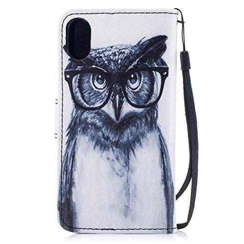 Cover Case Con Iphone Iphonex Inshang Di 8 Glasses Portafoglio Funzione 8inch Per Supporto Inch Custodia 5 Integrato Design X Owl 5 xqqr6nPZ0