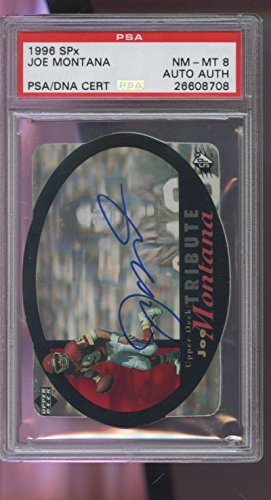1996 SPx Upper Deck Joe Montana AUTO SIGNED Autograph Football Card UDA PSA/DNA