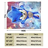 Sadie Mae Sonic The Hedgehog Blanket Soft Fleece