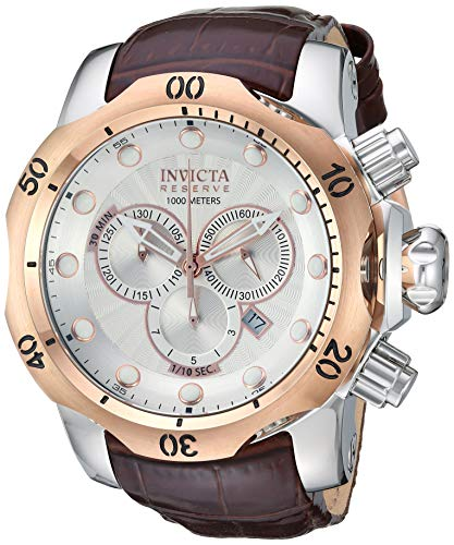 Invicta Men's 0359 Reserve Collection Venom Chronograph Brown Leather Watch