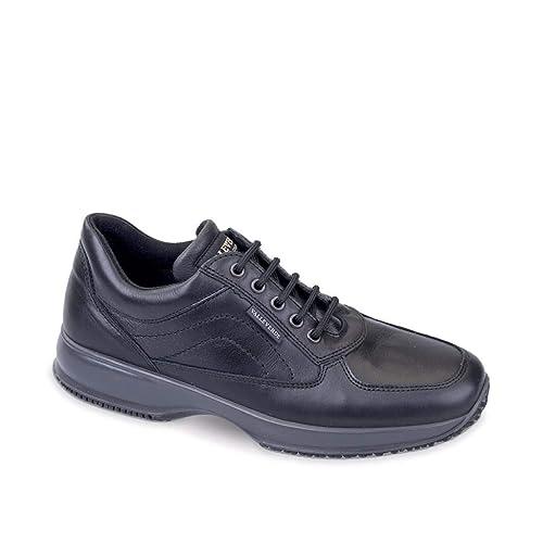VALLEVERDE Uomo Sneaker Nero 53842 Scarpe in Pelle Autunno Inverno 2019   Amazon.it  Scarpe e borse 86dc8b8f05e