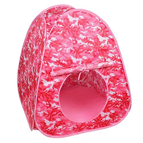 (Hunter Outdoor Hunting Blinds Pink Camo Playhouse Tents for Kids with Carry Bag, 31.5 in. 31.5 in. x 33.5 in)