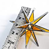 Gold Star, Stained Glass Star, Moravian Star, Yellow Star, Holiday Star, Christmas Star