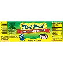 Best Maid Sweet Jalapeno Relish 8oz Jar (Pack of 3)