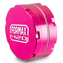 FORMAX420 Aluminum CNC Herb Grinder 2 Pieces (62mm, pink)