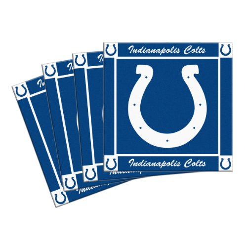 - Boelter Brands NFL Indianapolis Colts 4-Pack Ceramic Coasters