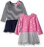 Image of Gerber Graduates Baby Girls' 2 Pack Dresses, Stars/Stripes, 12 Months