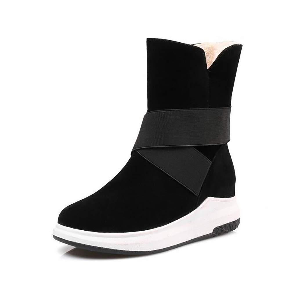 Hy Damens's Stiefelies Winter Flache Comfort Winterstiefel Warme Stiefel Damen Wild Snow Stiefel Stiefel Fashion Stiefelies Student Slip-Ons Outdoor Wanderschuhe (Farbe : C, Größe : 34)