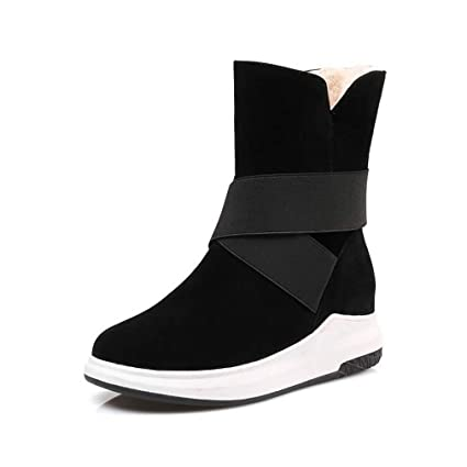 b3f0374928f82 Amazon.com: Hy Women's Booties Winter Flat Comfort Winter Boots Warm ...