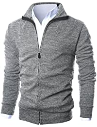 Mens Slim Fit Light Weight Full Zip up Cardigan with Inside Soft Fabric