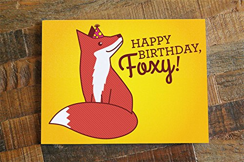 Amazon Foxy Birthday Card