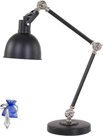 LED Schreibtischlampe Tischleuchte Tischlampe Büroleuchte Leselampe Schwarz