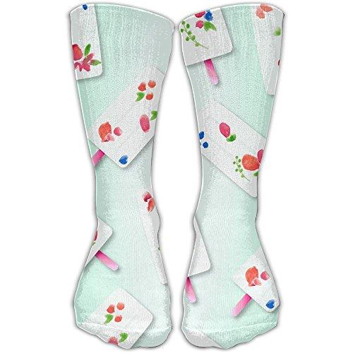 June-Calendar Women & Men Socks Soccer Sport Tube Stockings Length 30cm