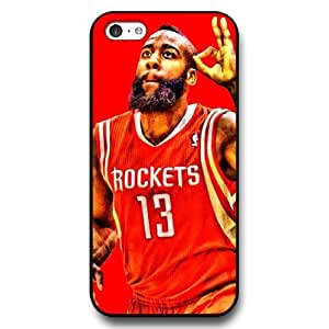 (TCustomized Personalized Black Hard Plastic Case For Iphone 4/4S Cover Case, NBA Superstar Houston Rockets James Harden Case For Iphone 4/4S Cover case, Only Fit Case For Iphone 4/4S Cover Case