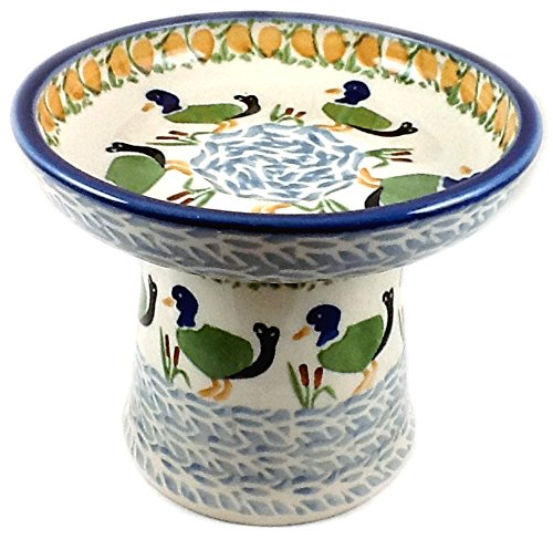 (Polish Pottery Birdbath for Parakeets Canaries Ducks)