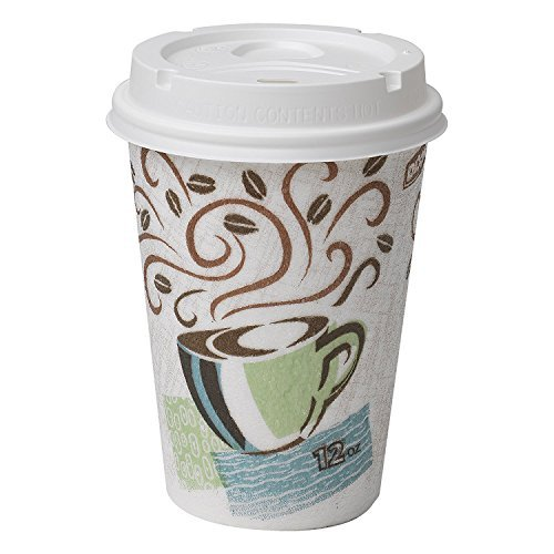 Dixie PerfecTouch 5342COMBO100 Grab N Go Cup and Lid Pack, 12 oz. (Pack of 50 Cups and Lids) by Dixie