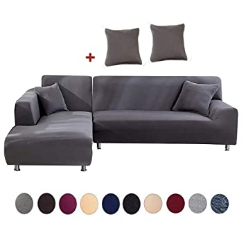 Amazon.com: TOPCHANCES - Funda de sofá en forma de L para ...