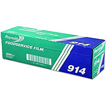 "Reynolds Wrap PVC Film Roll w//Cutter Box 18/"" x 1000 ft Clear 904"