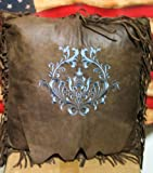 Western Turquoise Monterrey Throw Pillow For Sale