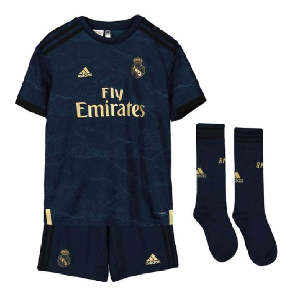 Navy 7-8 Years adidas 2019-2020 Real Madrid Away Full Kit (Enfants)