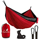 XL Double Parachute Camping Hammock – Tree Portable with Max lbs Breaking Capacity – Lightweight Carabiners and Ropes Included For Backpacking, Camping, Hiking, Travel, Beach, Yard, 125″ x 79″ 1000
