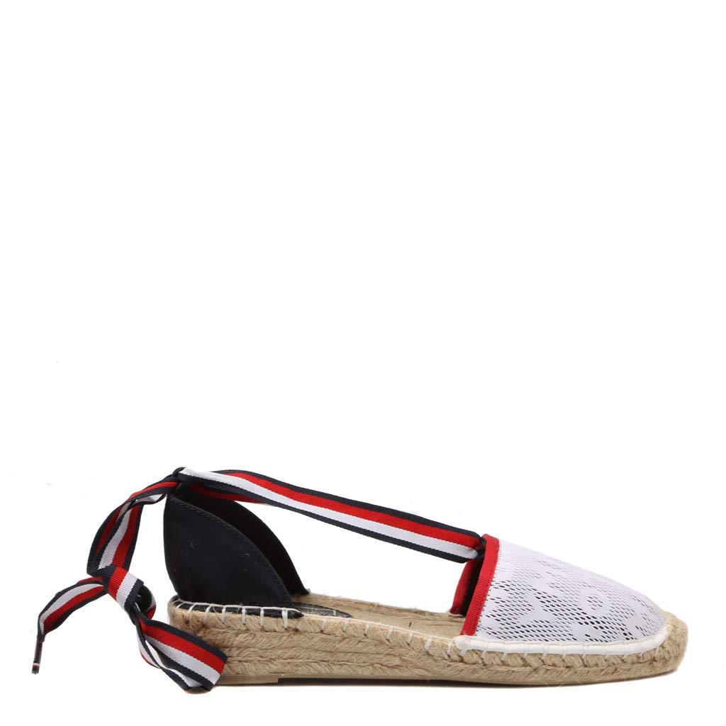 Tommy Hilfiger, Espadrille RWB FW0FW03935020, Alpargatas Blancas para Mujer: Amazon.es: Zapatos y complementos