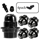 bulb sockets - SerBion 4 pack E26/E27 the US Standard Socket Screw Bulbs Edison Retro Pendant Lamp Holder,Light socket Industrial Vintage DIY Projects
