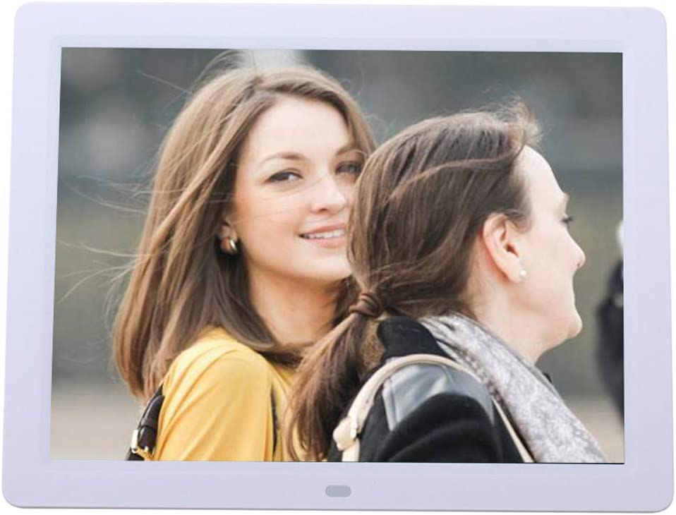 DINGYUFA 12 inch Digital Photo Frame Video Audio Player LED Display Support USB SD VS MMC Audio Port Built-in Speaker Metal Frame with Remote Control
