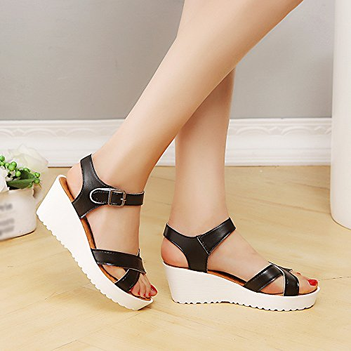 Women Sandals, Shybuy Women Summer Sandals Round Toe Breathable Beach Casual Sandals Boho Peep Toe Wedges Shoes