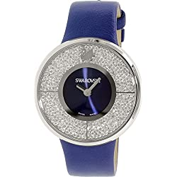 Swarovski Men's Crystalline 1184026 Blue Leather Swiss Quartz Watch