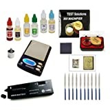 Electronc Diamond and Precious Metals Test Kit-Culti Diamond Selector, PuriTEST Purity Test Acids, DigiWeigh Jewelry Scale and Much More