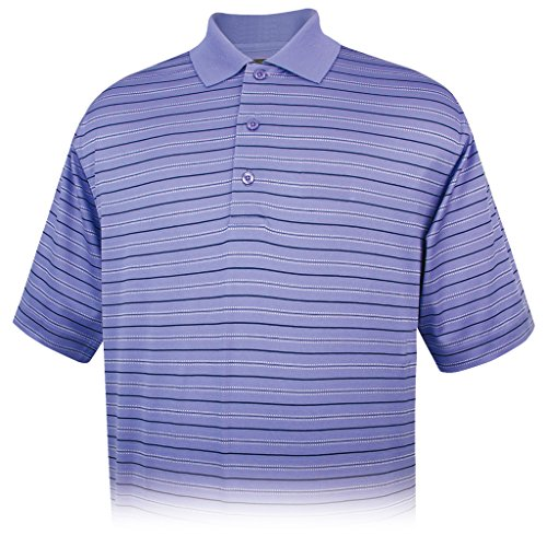 Monterey Club Mens 100% Pima Cotton Textured Stripe Shirt #1442 (Classic Blue/Navy, X-Large)