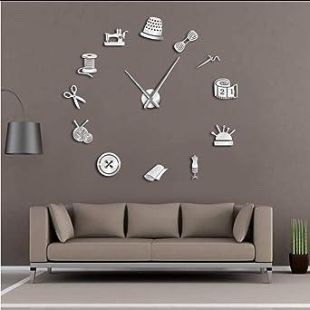 Tailor Shop DIY Reloj de Pared Gigante modista Needlecraft ...