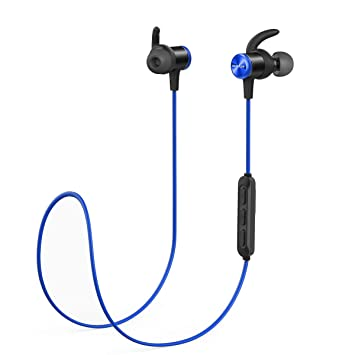 Soundcore Anker Spirit Sports Earphones Auriculares Bluetooth inalambricos, con Bluetooth 5.0, batería de 8 Horas, Impermeable IPX7, Ajuste Seguro para ...