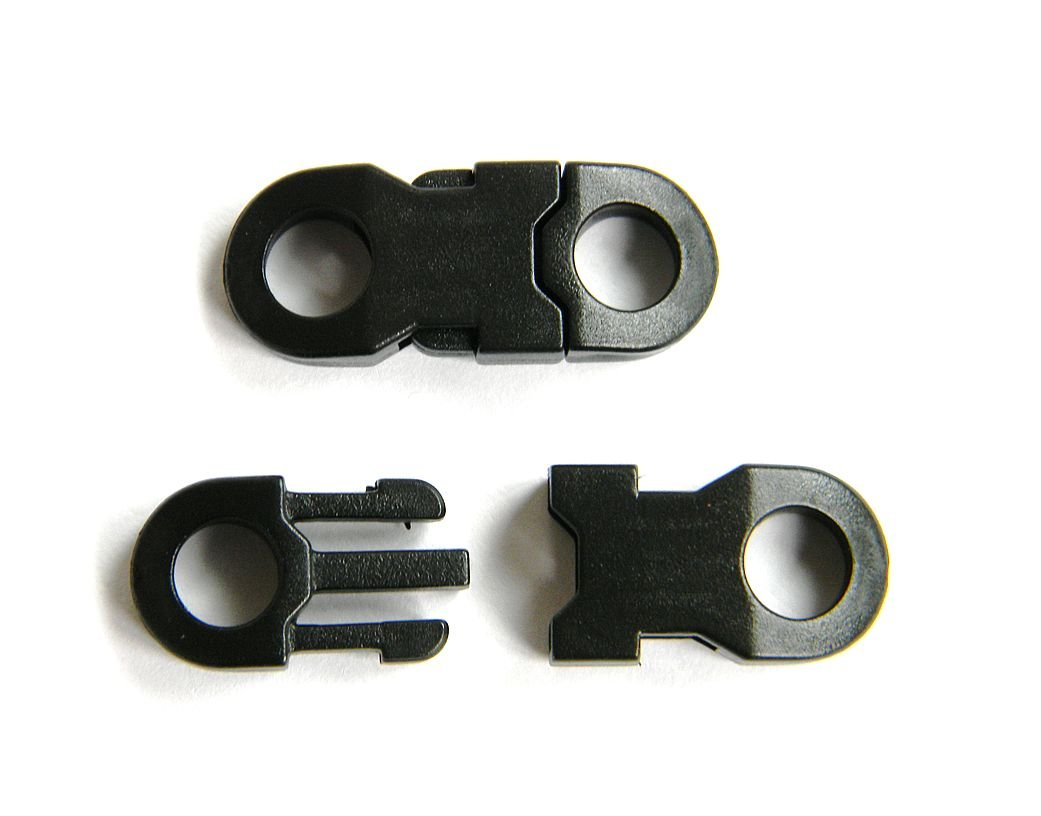 20 - 1/4'' Safety Side Release (Top Curved) Buckles For Paracord Bracelets & Lanyards