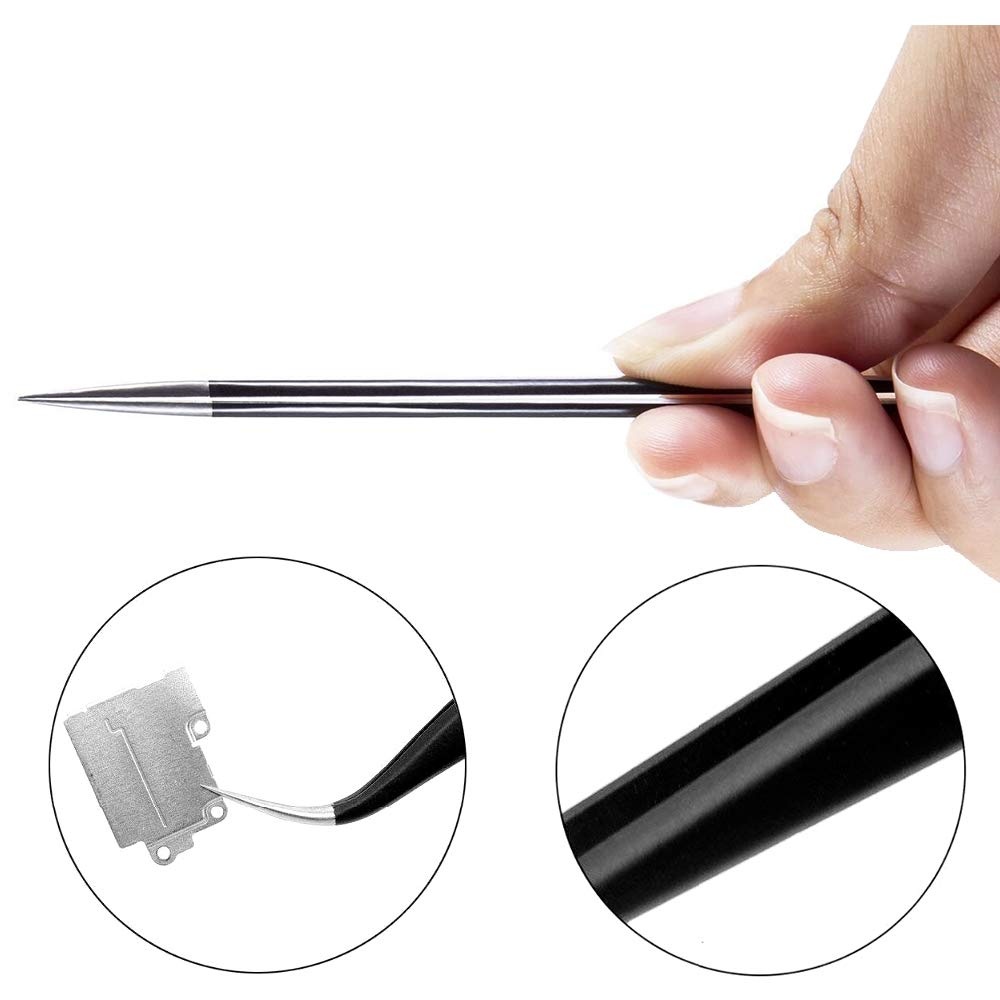 Multi-Standard Stainless Steel Tweezers For Electronics Repair Soldering Jewelry-Making Laboratory Work DLseego 9PCS Precision ESD Anti-Static Stainless Steel Tweezers Set With Non-Magnetic Tips