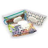 Sungrace Reusable Wet Wipe Case Wipe Pouch Dispenser...