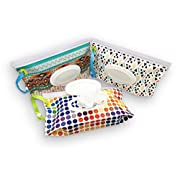 Sungrace Reusable Wet Wipe Case Wipe Pouch Dispenser for Baby (3 Pack)