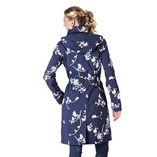 Femme capuche avec impermable multicolore HappyRainyDays Manteau Bleu gU8qPUA