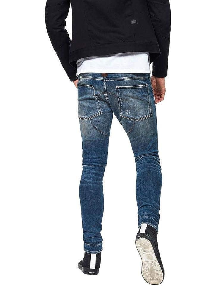 31W x 32L Medium Aged Antic Destroy G-Star Raw Mens 5620 3D Skinny Jeans Color Size
