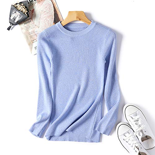 Suéter Caliente De Mujer Needra Para Camisa Top Sudadera Otoño Camisas Ropa Blue Mantener Light Manga Confort Blusa Larga Chándales Ocio invierno Navidad YXH5qHw