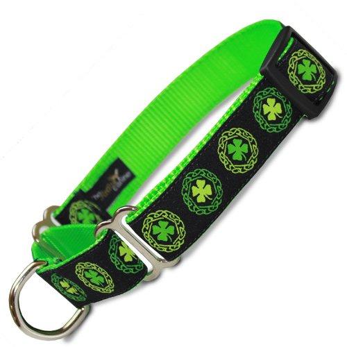 Irish Celtic Martingale Collar with Clover